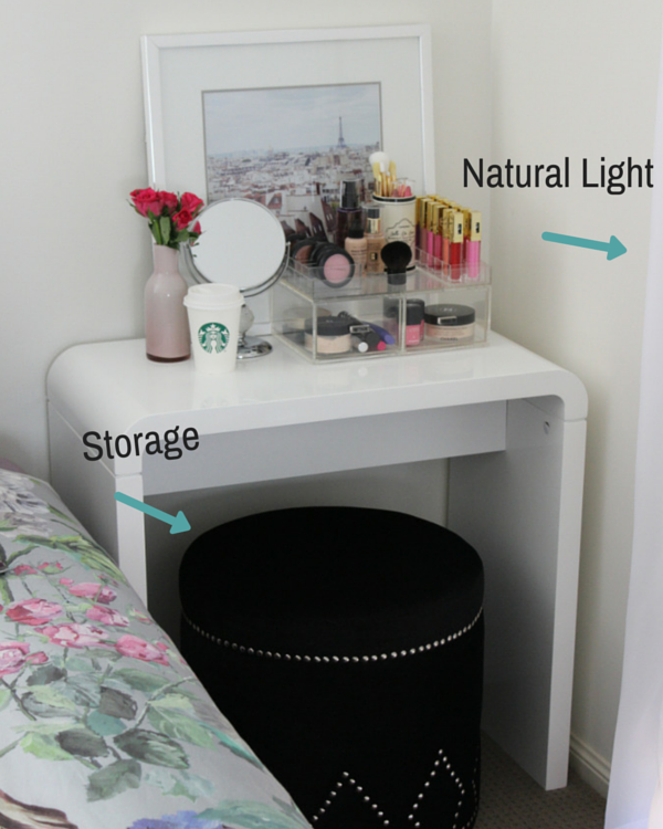 Makeup vanity for small spaces the makeup box shop makeup vanity in your room diy makeup vanity solutioingenieria Image collections